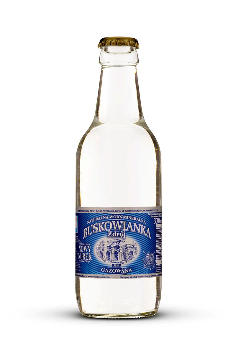 Buskowianka-Zdrój szklana butelka gazowana