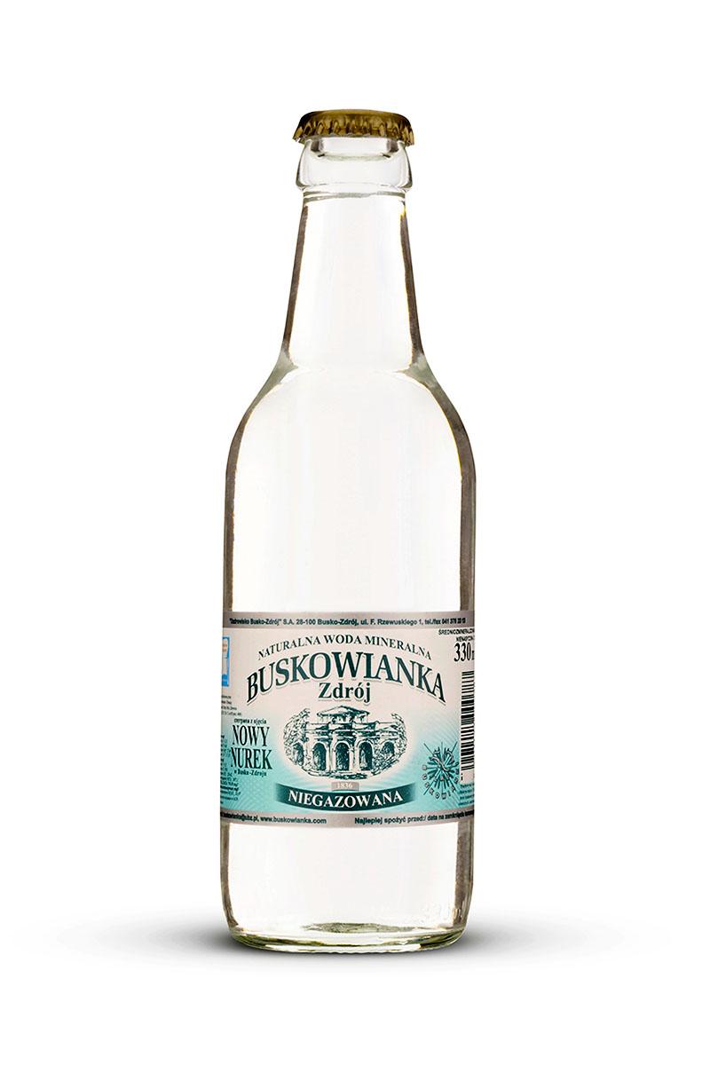 Buskowianka-Zdrój szklana butelka niegazowana