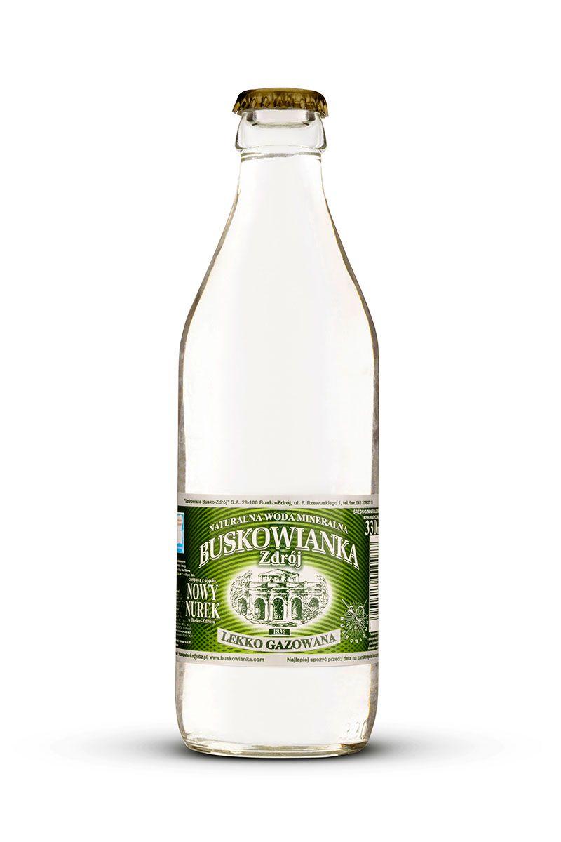 Buskowianka-Zdrój szklana butelka lekko gazowana